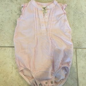 Pink and white striped, size 18 months
